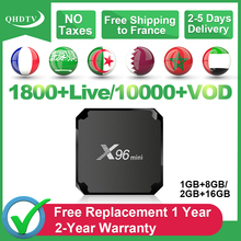 QHDTV IPTV France Arabic IPTV Subscription 1 Year X96 Mini Android S905W Spain IPTV French Arabic Belgium Germany Algeria IP TV iptv subscription iptv 1 year ip tv box android s905w 4k iptv arabic france belgium netherlands algeria lebanon tunisia ip tv