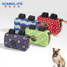 KOMMILIEF Portable Dog Poop Bag Holder Pet Waste Bag Dispenser Diving Cloth Garbage Bag