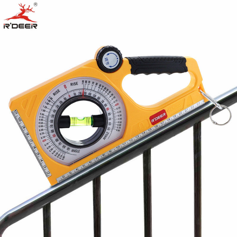 0-130 Degree Slope Measure Instruments Bevel Protractor Magnetic ABS Angle Finder Slope Meter