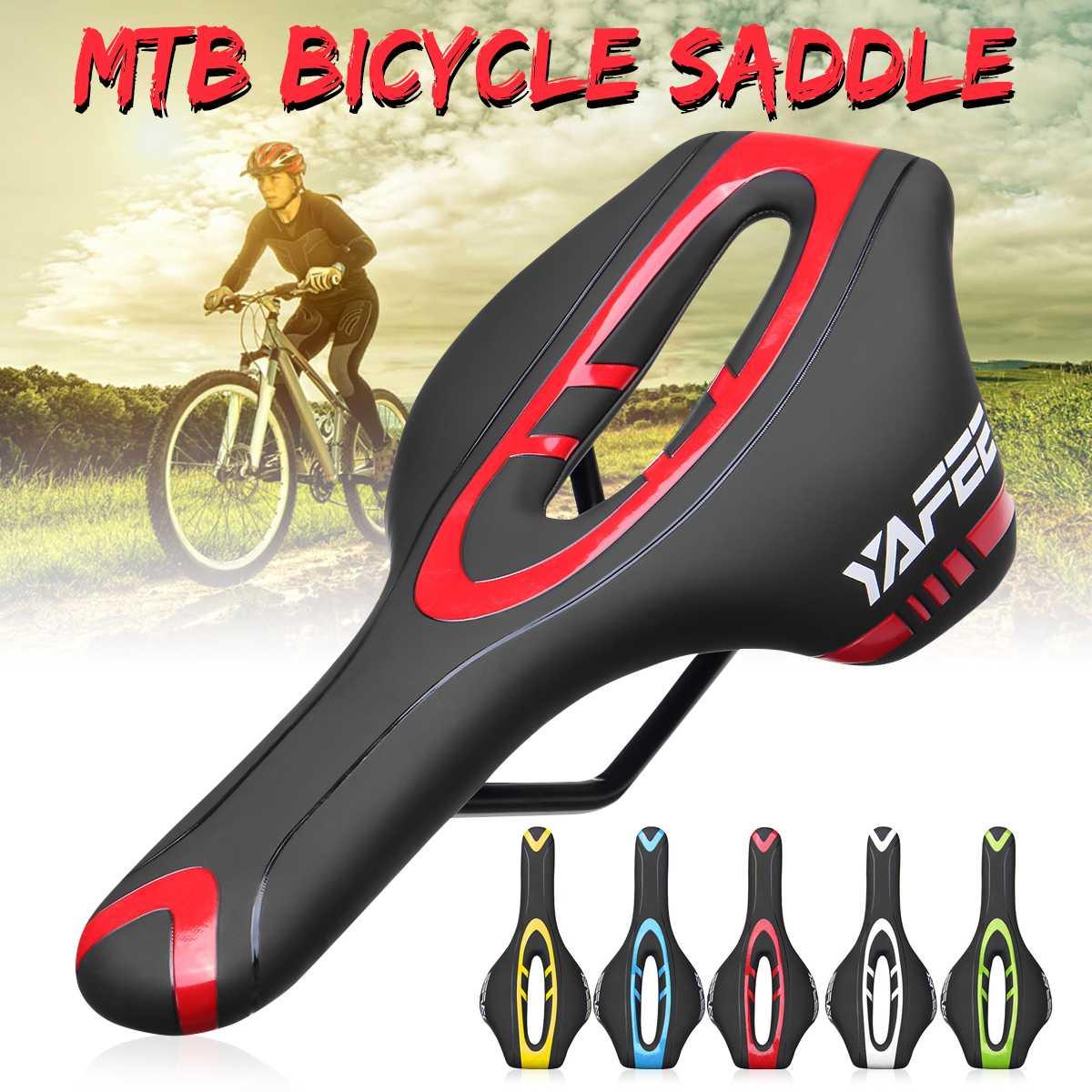 ROCKBROS Cycling Bicycle Saddle Black Road Bike MTB Saddle Steel Rail Rear Seat