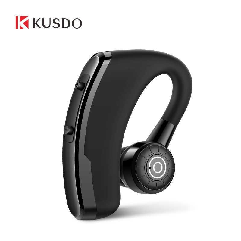 KUSDO casque d'écouteurs Bluetooth sans fil, casque mains libres, oreillettes avec Microphone HD pour téléphone, Samsung xiaomi