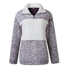 Goocheer Women Winter Clothes 2019 Fashion Warm Fluffy Casual Coat Stand Collar Zipper Outerwear Pullover chaqueta mujer