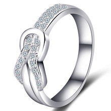 2 colors Fashion Rings with Full of zircon For Women luxury shiny crystal Ring Female Statement Party Charm Gifts New Design