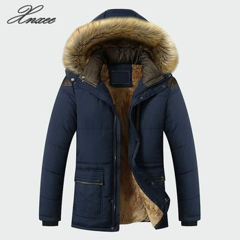 Winter Jacket Men Clothing Fashion Casual Slim Thick Warm Mens Coats With Hooded Long Overcoats Male Clothes M-5XL