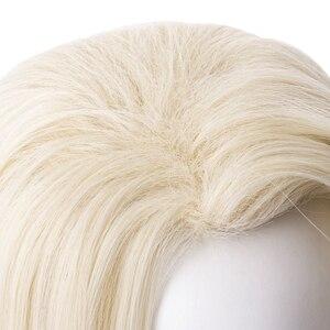 Image 5 - למבוגרים נסיכת קוספליי פאות 65cm ישר עמיד בחום סינטטי שיער מפלגה פאות