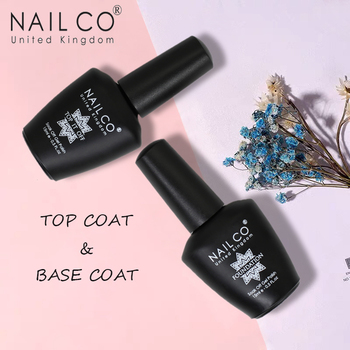 NAILCO 15ml Top Coat And Base Coat Art Design Gel Nail Polish UV Top Base Coat UV LED Soak Off Gel For Nail Decoration Varnish
