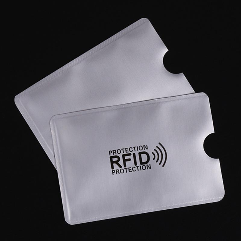 50Pcs/Bag Anti Rfid Wallet Blocking Reader Lock Bank Card Holder Id Bank Card Case Protection Metal Credit Card Holder 6x9.3cm