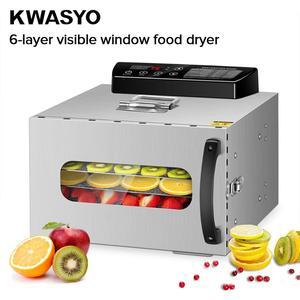Image 2 - KWASYO 6 トレー食品脱水機フルーツ乾燥機乾燥機野菜ドライフルーツ肉乾燥機ステンレス Ste
