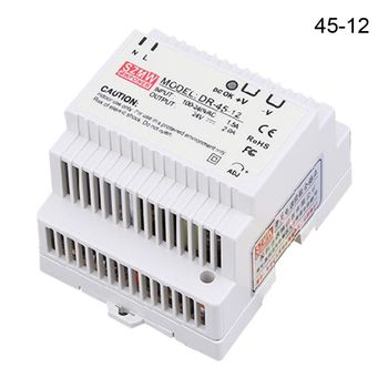DR-45 Single Output 5V 12V 15V 24V Din Rail Type Switch Switching Power Supply [cheneng]mean well original clg 100 15 15v 5a meanwell clg 100 15v 75w single output led switching power supply