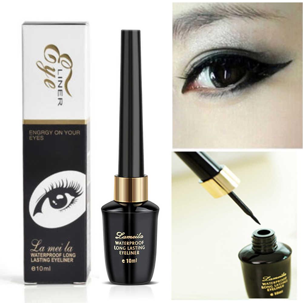 1PC 10ml Eyeliner étanche tête dure séchage rapide résistant à la transpiration ne pas fleurir longue durée cosmétique pour les yeux Maquiagem TSLM2