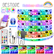 Bluetooth Dream RGB LED Strip DC 12V Led Light Individually Addressable Flexible Smart Lighting Ribbon Tape Controller Adapter