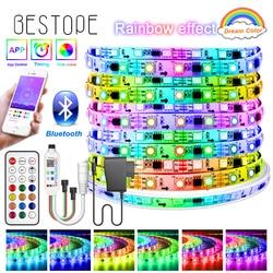 Bluetooth Dream RGB LED Strip DC 12V Led Light Individually Addressable Flexible Smart Lighting Ribbon Tape Controller Adapter