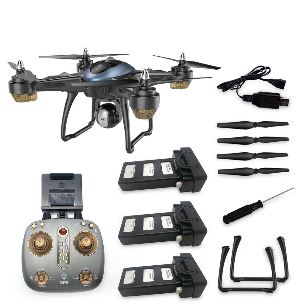 LH-X38GWF <font><b>Drone</b></font> Dual <font><b>GPS</b></font> WIFI FPV <font><b>Drone</b></font> HD <font><b>1080P</b></font> Camera Remote Control Helicopter RC <font><b>Drone</b></font> Professional <font><b>Drone</b></font> w/ 3*Batteries image