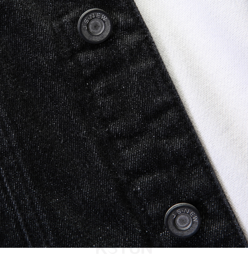 KSTUN Famous Brand Jean Jackets for Men Denim Jacket Solid Black Casual Embroidered Letters Fashion Desinger Man Classic Outwear Coats 16