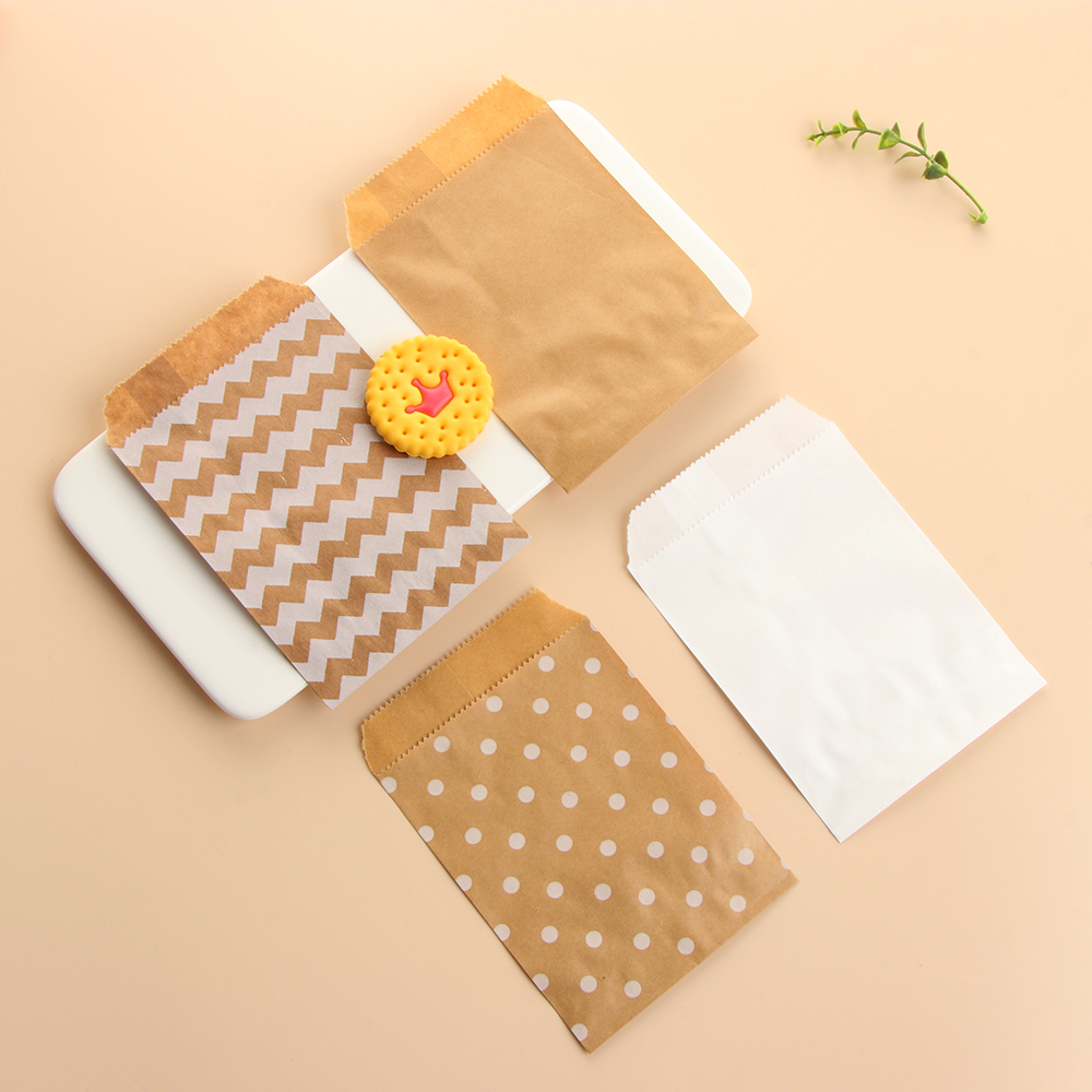 Dot Pastry Tool Candy Biscuit Bags Kraft Paper Bag Popcorn Bag Packing Pouch