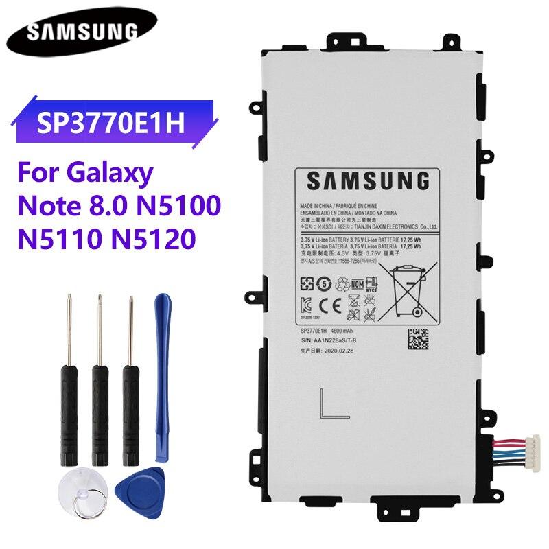 100% оригинальный планшетный аккумулятор SP3770E1H для Samsung N5100 N5120 Galaxy Note 8,0 N5110 оригинальные сменные батареи 4600 мАч