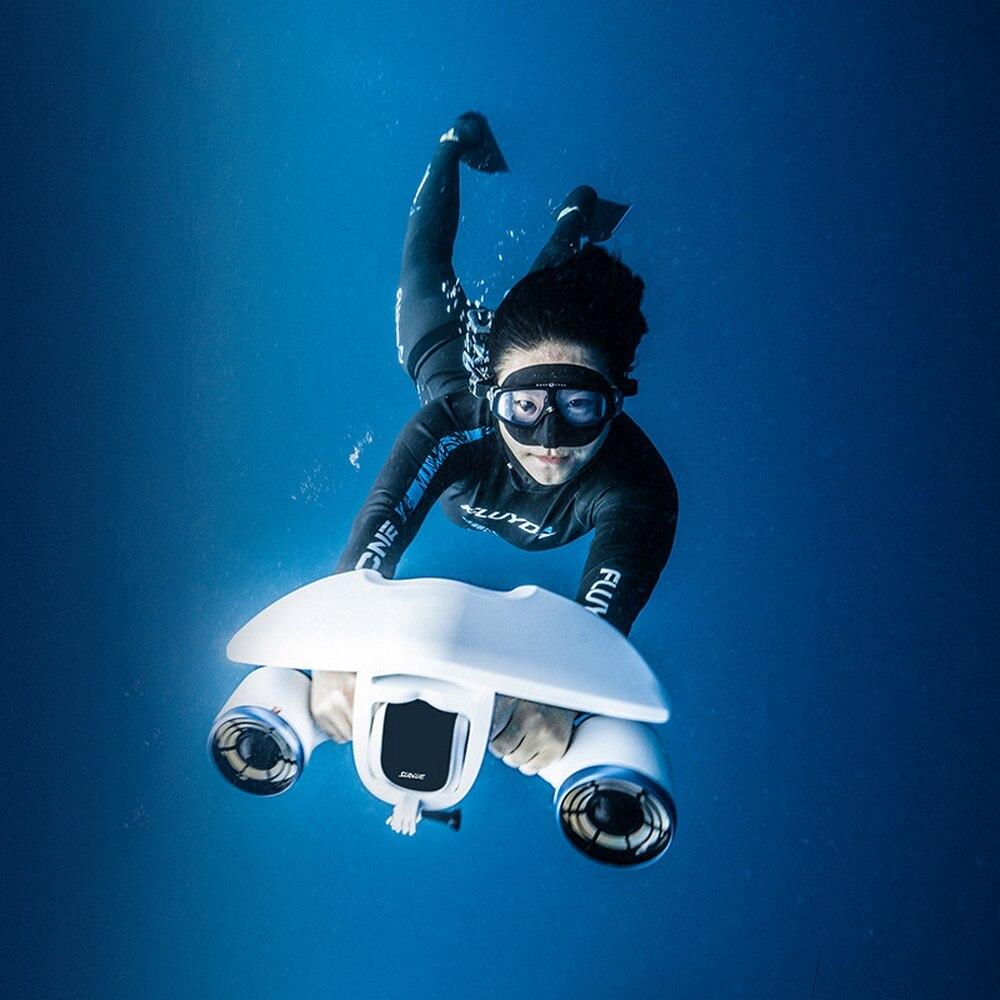 2020 NEW Electric Underwater Scooter Waterproof 520W Water Sea 3 Speed Propeller Diving Pool Scooter Water Sports Equipment
