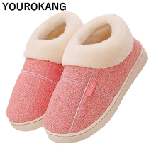 Dropshipping Women Winter Home Shoes Slippers Soft Plush Warm Big Size Slipper Indoor Bedroom Floor Lovers Couples Flat Footwear недорого