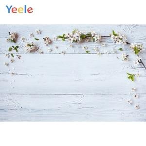 Image 5 - Yeele חג המולד עץ לוח פרח קיר תינוק צילום רקע ויניל צילום רקע תמונה סטודיו Photozone עבור מזון
