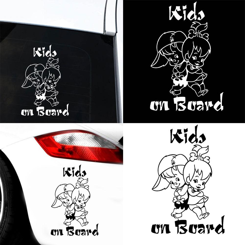 Kids on Board Cute Cartoon Child Car Vehicle Reflective Decals Sticker Decor Car Exterior Accessories Boutique 2019
