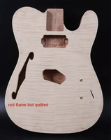 Unfinished Guitar Body Tele Style Mahogany quilted Maple Veneer DIY electric guitar