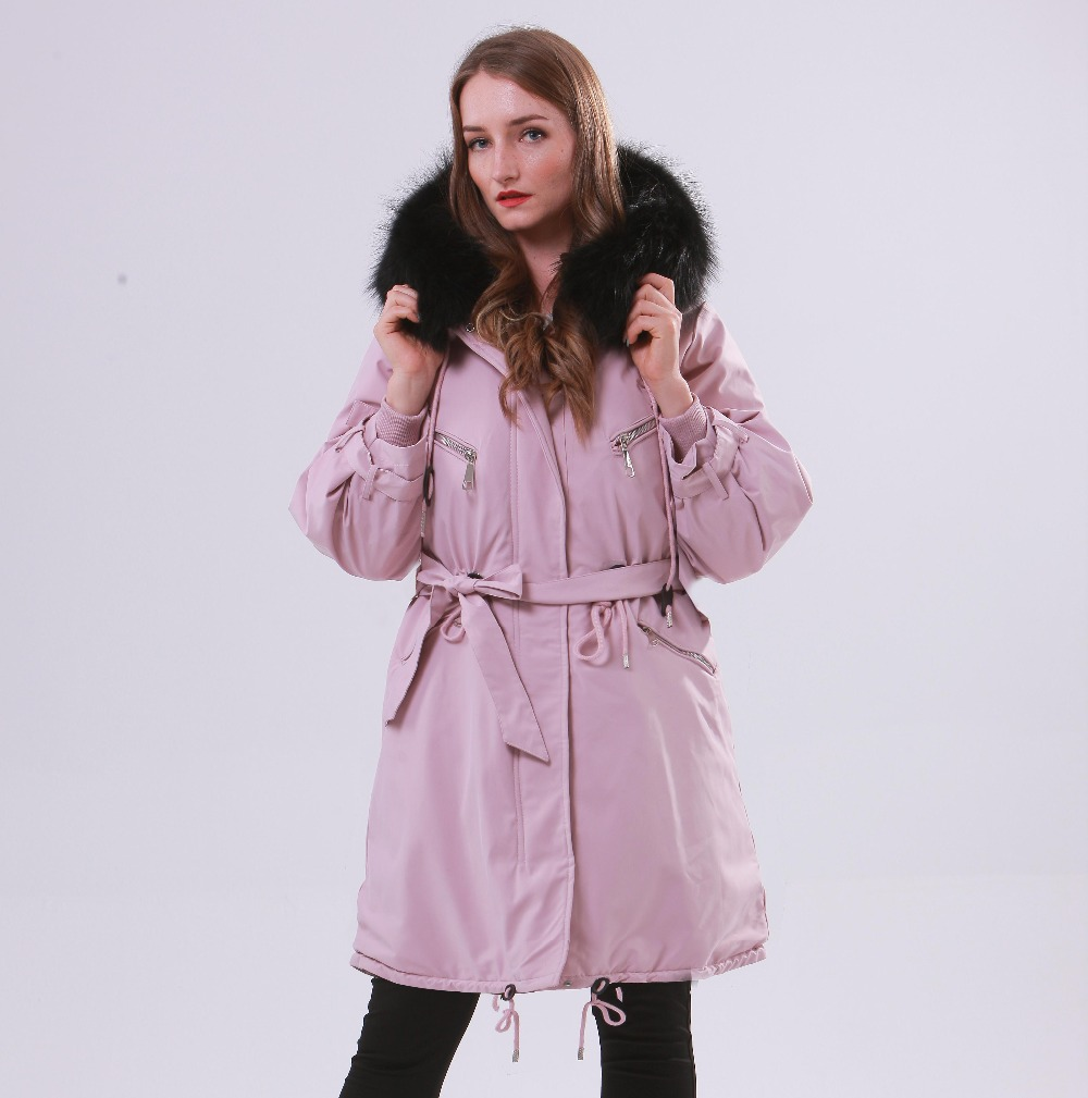 Large Natural Raccoon Fur Winter Jacket Women Hooded 19 Long Parkas For Female Thick Slim Down Winter Coat Women Waterproof 12