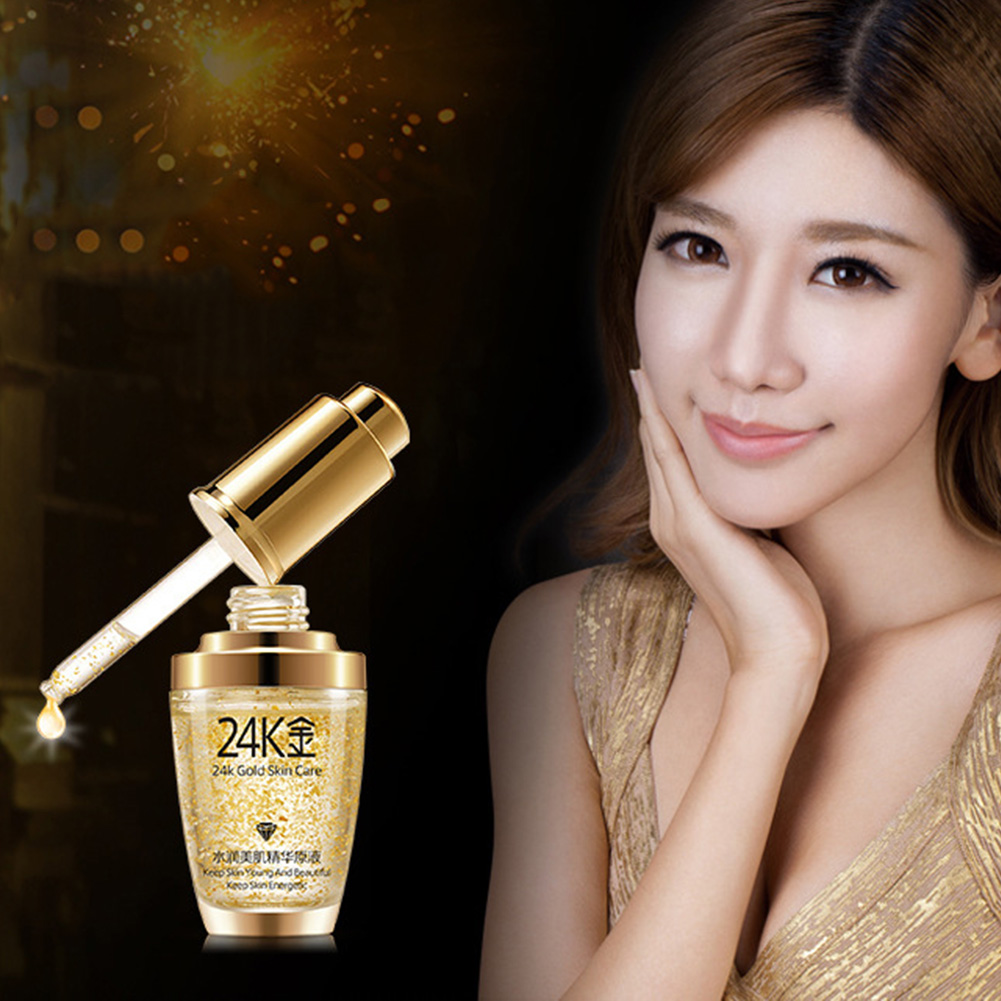 Products 24K Gold Essence Oil Anti Wrinkle Anti Aging Collagen Moisturize Hyaluronic Acid Liquid #1214