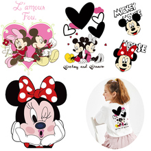 Mouse Patch Thermo Iron On Transfer For Clothes Stickers Cartoon Patches Thermal Heat Transfer For Children T Shirt Stripes DIY blinghero cartoon thermal patches cute iron on patch stickers t shirt jacket heat transfer patches diy pacth bh0350