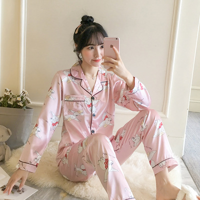 2020 New Style Spring And Autumn Imitated Silk Fabric Cardigan Long-sleeve Suit M L X L Xx L