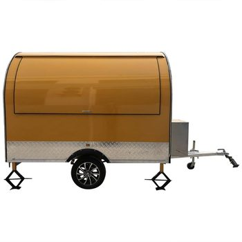 custom made food truck concession food trailer Yellow Stainless Steel Concession Food Trailer Food Truck