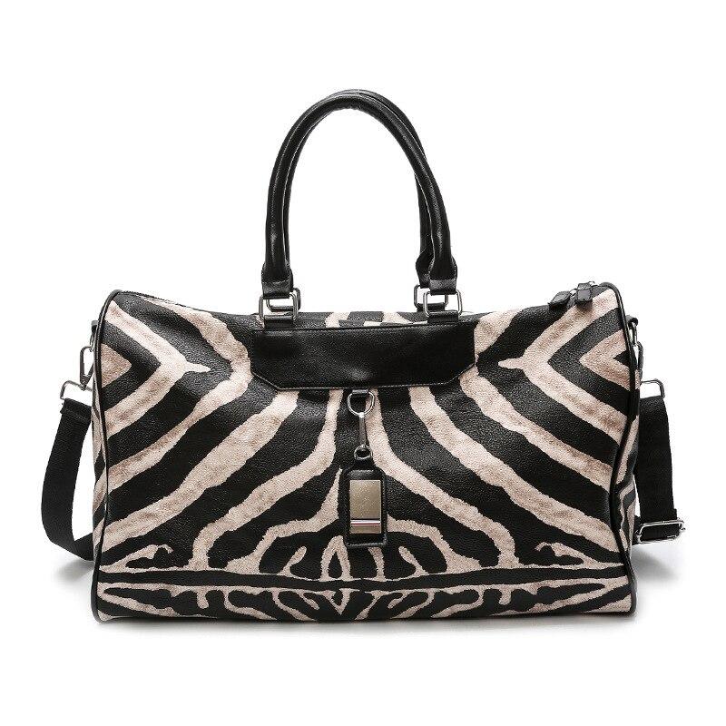 Gym Bag - Leather Sports Bags Big Men Women Training Handbag Shoes Lady Fitness Yoga Travel Luggage Shoulder Black Sac De Sport