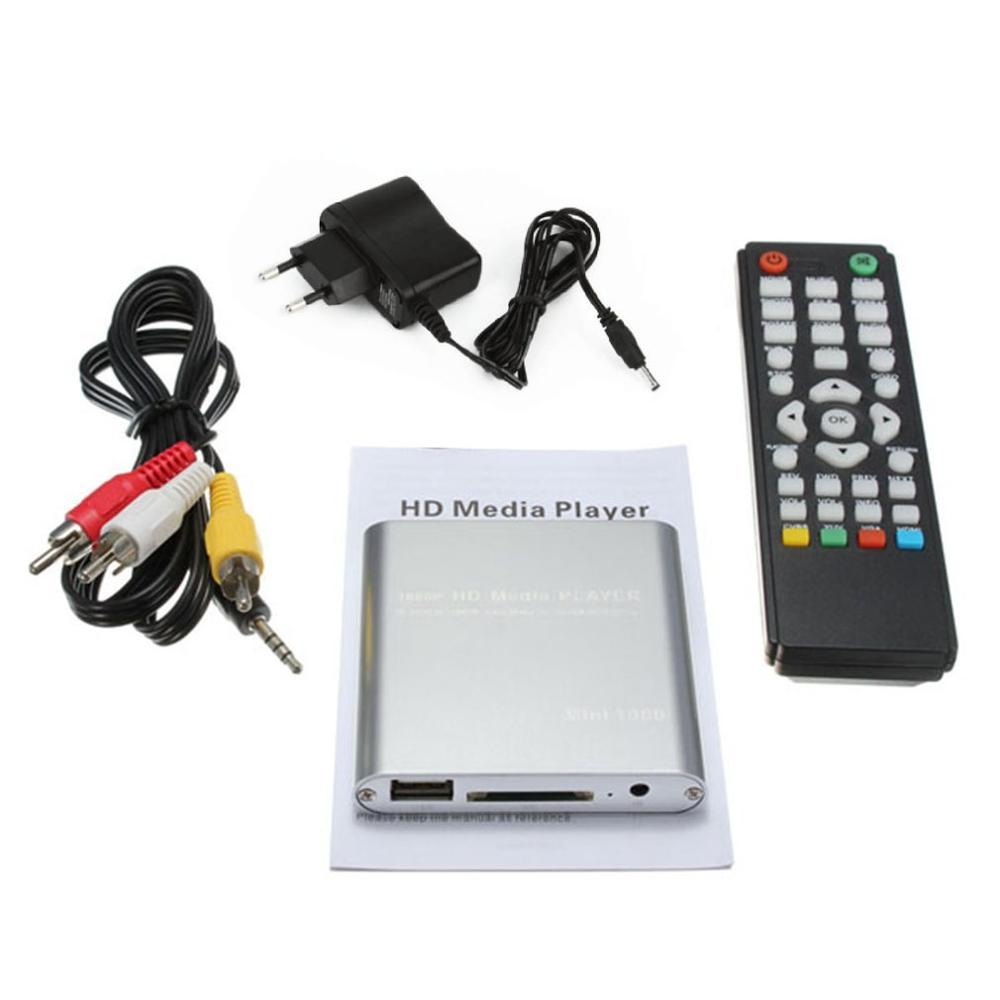 Mini USB HD 1080P MKV AV Port HDMI Video Audio Digital Multi Media Player  Plug And Play SATA U-disk Adapter