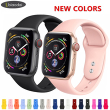 Sport band For Apple Watch strap 42mm 38 mm iWatch 4 band 44mm 40mm silicone belt bracelet watchband for Apple watch 4/3/2/1 44 цена и фото