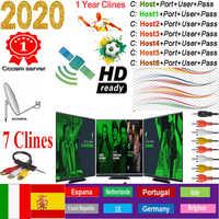Cccam Europa servidor España Cccam HD 7cline para 1 año Europa España Portugal Polonia receptor estable satelite
