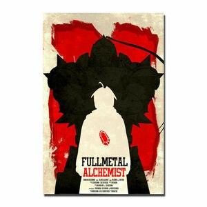 W012 аниме «Стальной Алхимик» F шелковая ткань настенный художественный плакат Декор стикер яркий