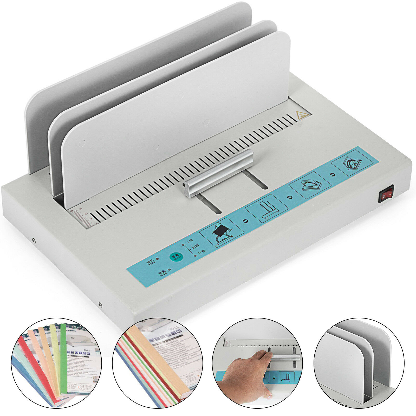 110V Thermal Binding Machine Home 1 50mm Document Hot Melt Machine|Food Processor Parts| |  - title=