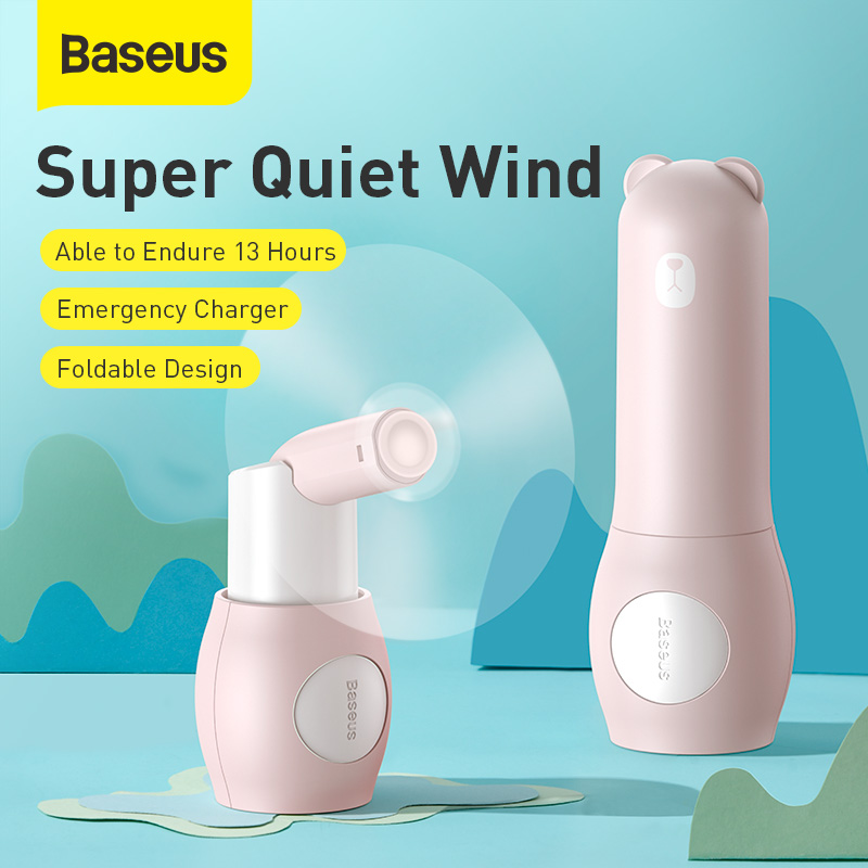 Baseus USB Gadget Fold Usb Mini Fans 2000mAh USB Ventilador Household Rechargeable Fan Appliances Desktop Electric Mini USB Fan