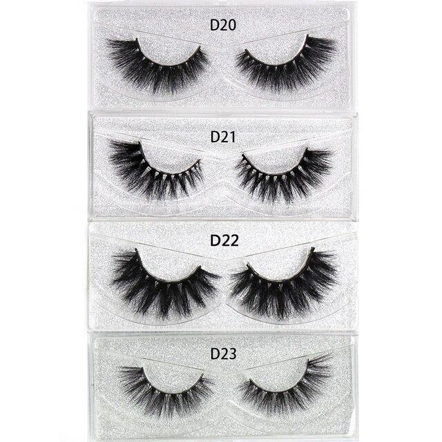 LEHUAMAO Mink Eyelashes 3D Mink Lashes Thick HandMade Full Strip False Eyelashes cruelty free Mink Lashes 34 Style Makeup Lashes 5