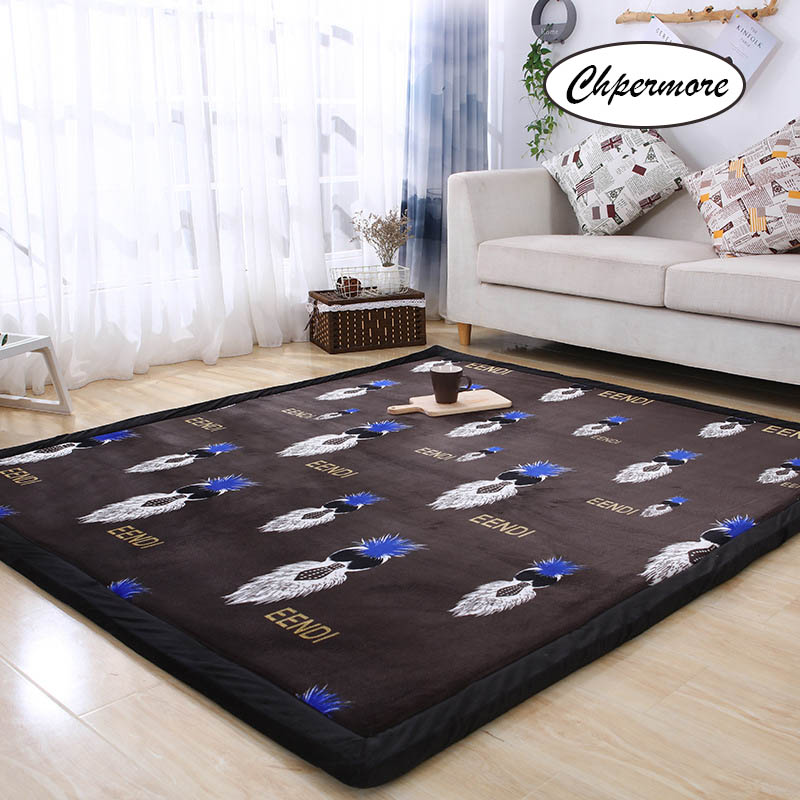 Chpermore Fallen Large Carpets Simple Non-slip Tatami Mats Bedroom Home Lving Room Rug Floor Rugs Children's Non-slip Mat