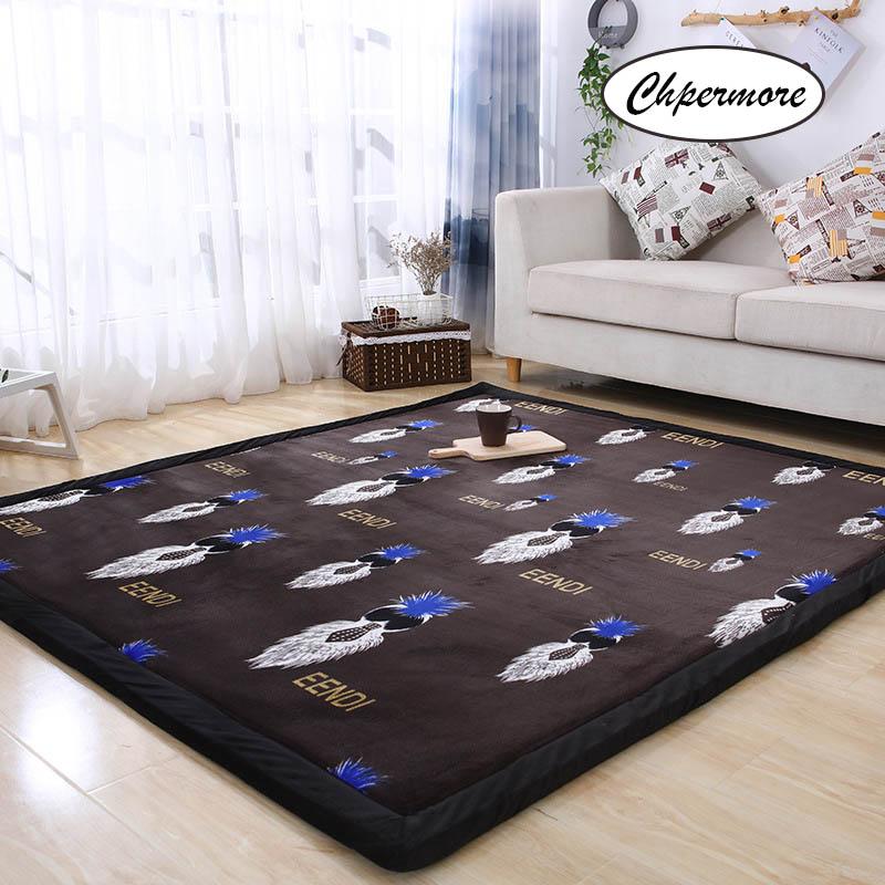 Chpermore Fallen Large Carpets Simple Non-slip Tatami Mats Bedroom Home Lving Room Rug Floor Rugs Children's Non-slip Mat