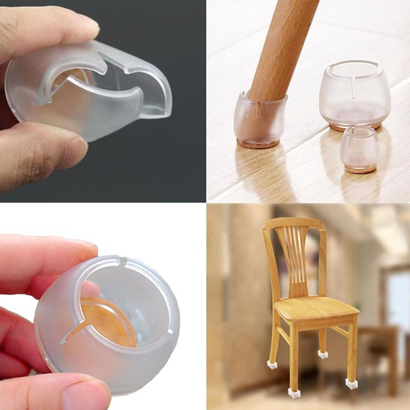 32pcs Round Silicone Furniture Table Feet Cover Chair Leg Caps Pads Floor Protectors Bottom Non-Slip Cups Home Decor Accessories
