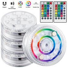 Underwater-Light Battery Magnet Ip68 Waterproof Sucker 16 Color RGB 13led Multifunctional