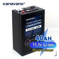 인버터 광부에 대 한 12V 40AH 3S16P 11.1V 12.6V 고전력 리튬 배터리 팩 크 세 논 램프 듀얼 USB 인터페이스와 높은 빛을 주도