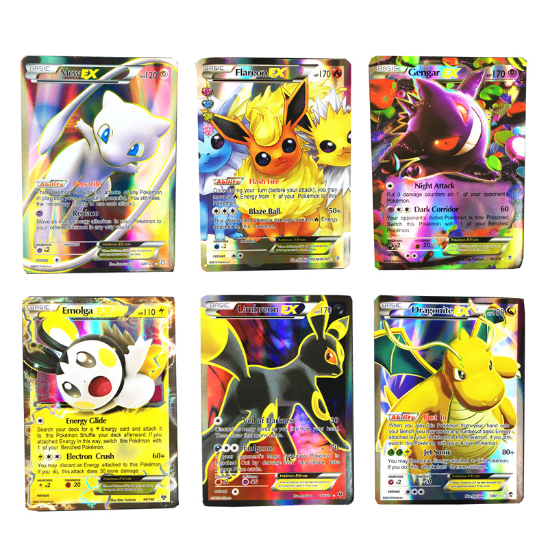 Best Selling Mix Pokemones Cards Collection GX Mega EX Cards For Funs Children English Language Toy
