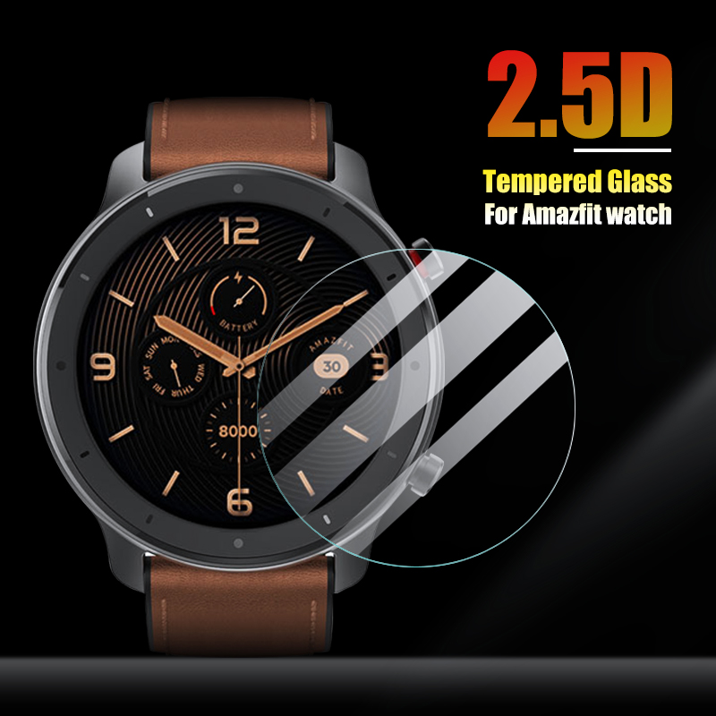 IONCT HD Tempered Protective Glass For Xiaomi Amazfit Pace Glass Watchband Huami Amazfit Strato 2 GTR 42/47MM Screen Protector