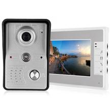 7in Wired Video Doorbell Intercom TFT Screen Night Vision Remote Access System 100-240V Video Doorphone for 4 apartments new wired 7 tft screen video door phone intercom entry system with infared night vision in stock