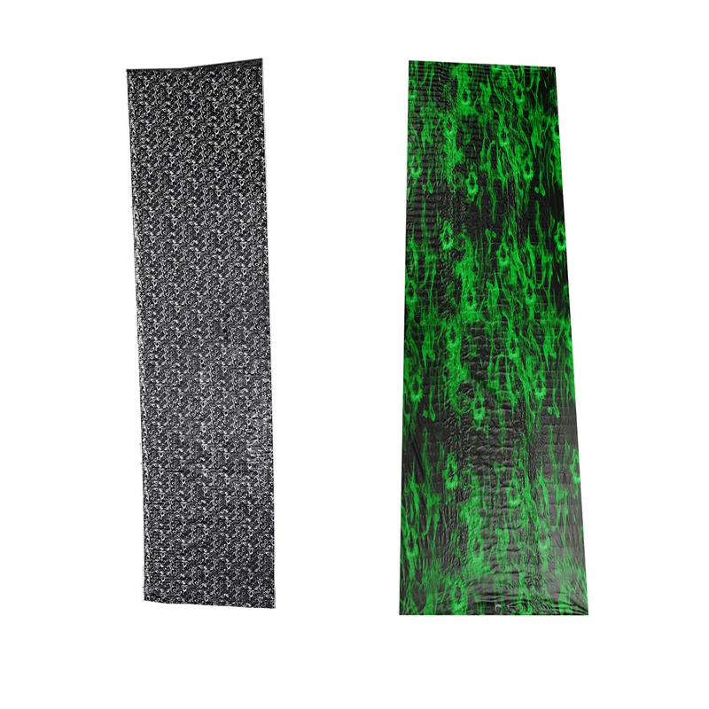 2Pcs Water Transfer Printing Film Hydrographics Hydro Dipping Kit 0.5X2M Skull Green & Serpent Head