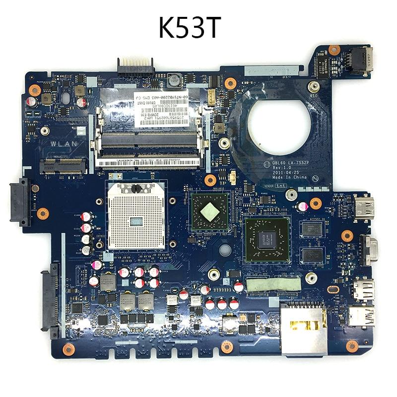 K53T QBL60 LA-7552P Mainboard For ASUS K53Z K53TA K53TK K53T X53T X53TA X53TK Laptop Motherboard USB 3.0 DDR3