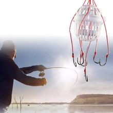 """1 шт. взрывной рыболовный крючок Рыболовная Приманка Ловушка кормушка """"Клетка"""" острый Рыболовный крючок с пружинами из нержавеющей стали"""