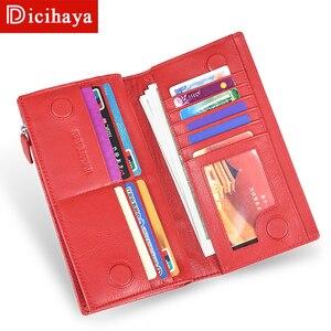 Image 3 - DICIHAYA 2020 נשים ארנקים עור אמיתי RFID חסימת פונקציונלי ארנק רוכסן ארוך כרטיס מחזיק גבירותיי מטבע ארנק טלפון תיק